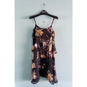 Topshop | NWT Floral Print Tiered Ruffle Dress
